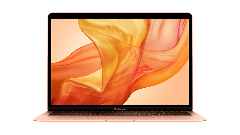Front open view of the All-New MacBook Air available to lease from HardSoft