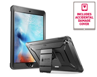 Front and rear view of the iPad Secured in Black i-Blason Carry Case