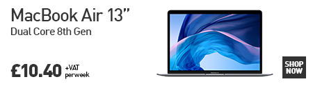 The MacBook Air. Thinner, Faster & more powerful than ever. Lease today from HardSoft for £10.40 per week