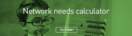 "Child With Abacus with the caption ""Network Needs Calculator: Try it Now!"""