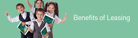 Children Holding iPad's The Benefits of Leasing
