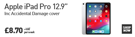 "Apple iPad Pro 12.9"" available to lease from HardSoft for £8.70 per week. Click here for more information"