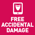 Free accidental damage cover is included! Click here for more information