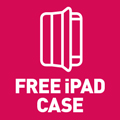 There's a free protective case included with every HardSoft iPad Lease!