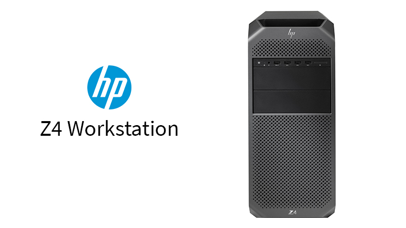 HP Z4 Workstation Front View With HP Logo