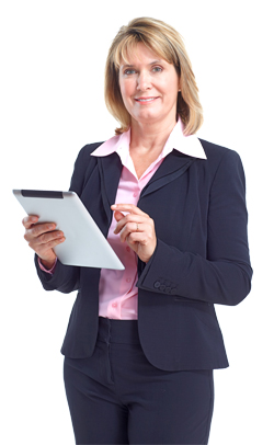 Female Teacher With iPad