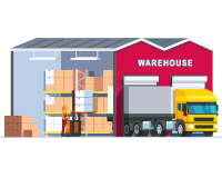 Animated Warehouse in Operation