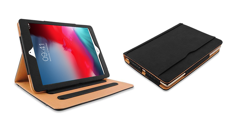 Open and closed view of the free protective case included with every iPad Lease