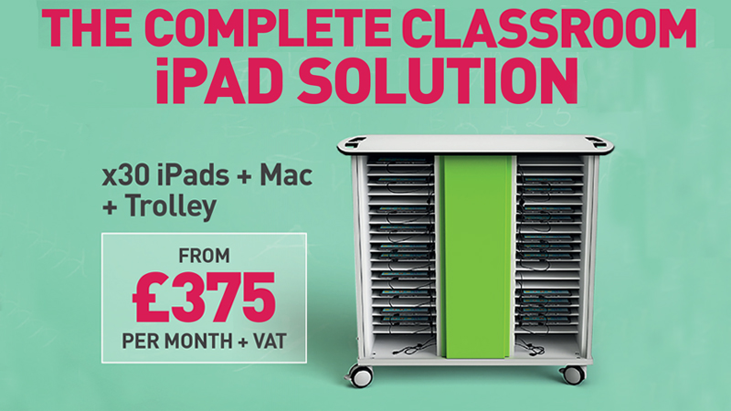 The Complete Classroom iPad Solution: x30 iPads + Mac + Trolley From £375 Per Month + VAT