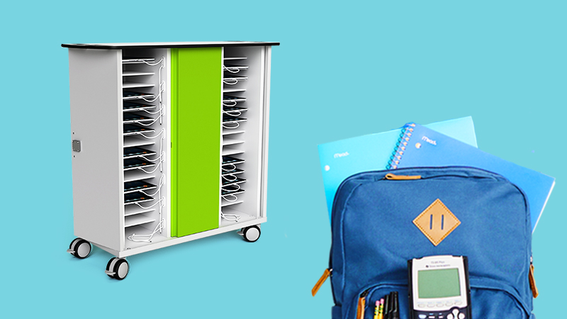 lab trolley and backpack
