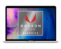 Front open view of the MacBook pro with dedicated Radeon Vega GPU (Feature Image)