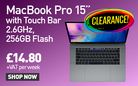 "Clearance MacBook Pro 15"" with Touchbar is available to lease whilst stock lasts at HardSoft!"