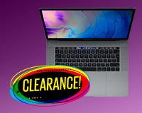 Top down open view of the MacBook Pro on clearance!