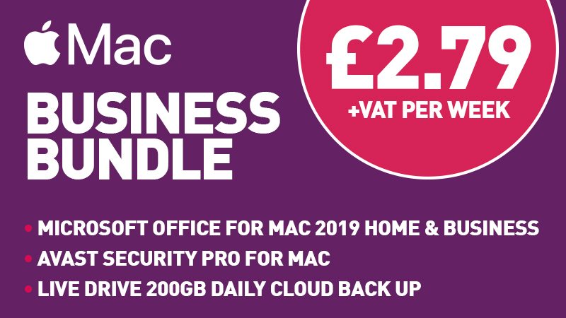 Mac Business Bundle: Microsoft Office For Mac 2019 Home & Business, Avast Security Pro for Mac, Live Drive 200GB Daily Cloud Back Up for £2.79 +VAT per Week
