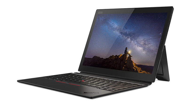 Open front view of the Lenovo ThinkPad X1