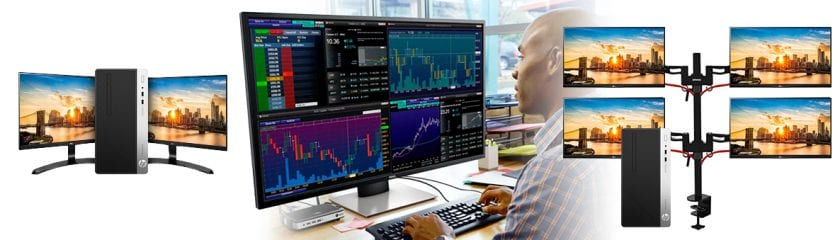 Single screen display solutions, 4-in-1 Dell monitor solution and multiple display solutions