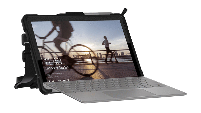 Open and ready to go Surface Go LTE in Rugged protective case