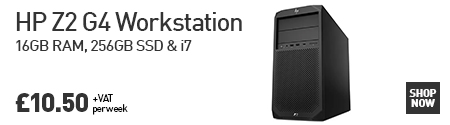 Click here to Lease an HP Z2 G4 Workstation fitted with GeForce GTX 1060 GPU for £10.50 per week!