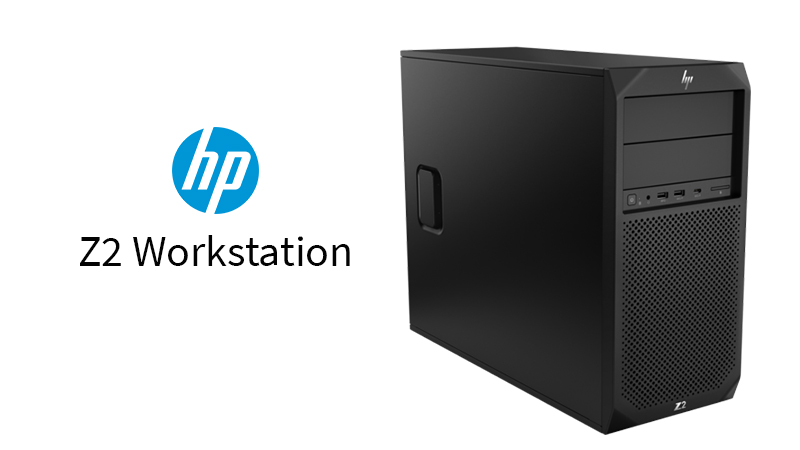 The HP Z2 G4 Workstation Front & Side Panel View