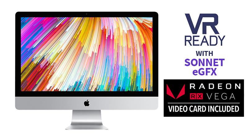 """Apple iMac 27"""" 5K: i7- VR Bundle with Sonnet eGFX"""