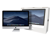 "Out of box iMac 27"" with box inset"