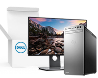 Dell XPS 8930 with monitor and box inset