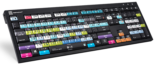 Logickeyboard for AutoDesk Maya