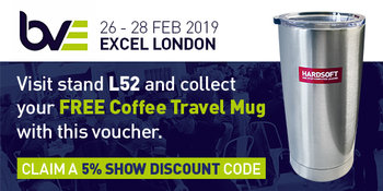 BVE 2019 voucher for free travel mug and 5% show discount