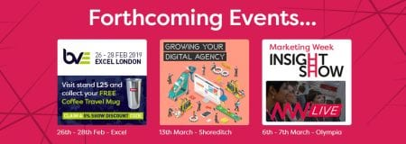 BVE, Growing Your Digital Agency and Marketing Week Insight Show dates that HardSoft is attending