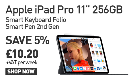 The iPad Pro Bundle : Save 5% vs RRP by Leasing today for £10.20 per week! Click here for more information