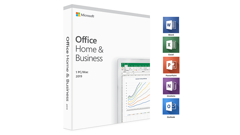 Microsoft Office Home & Business 2019 with Application Icons