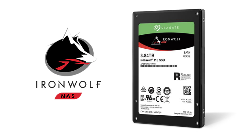 Front view of the Seagate IronWolf NAS SSD