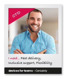 Subscribe to a new way of thinking - Devices for Teams. Photo of a CTO