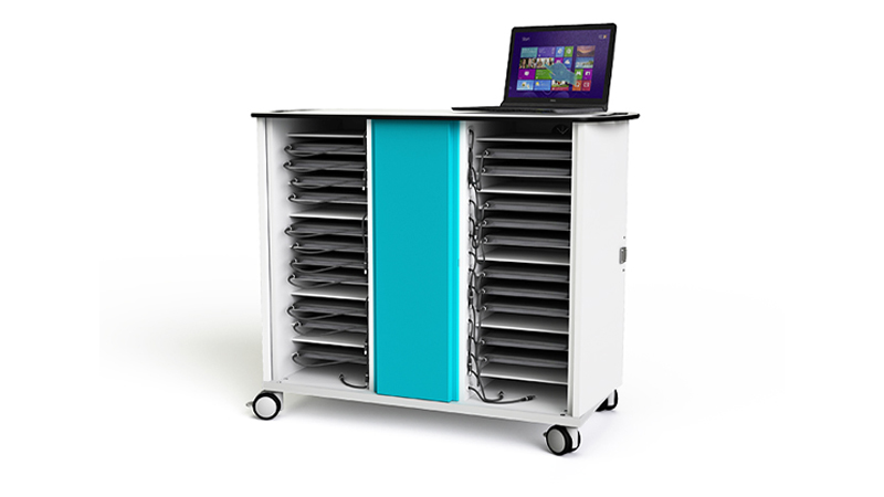 Front view of the Zioxi 32 Laptop Bay Trolley