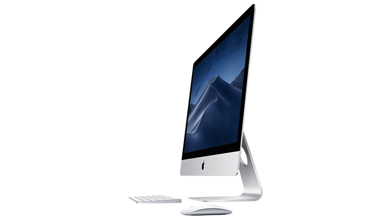 Apple iMac Side-view with keyboard and mouse