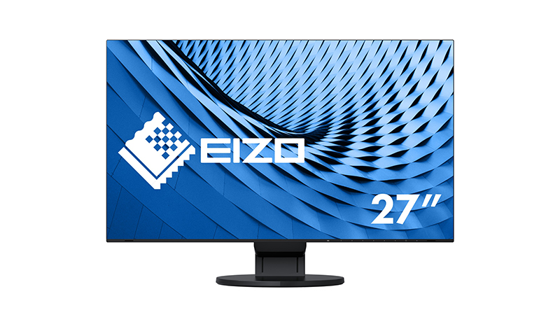 "Front view of the EIZO 27"" FlexScan"