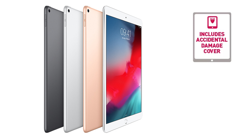 The Apple iPad Air available to lease from HardSoft in Gold, Silver or Space Grey.