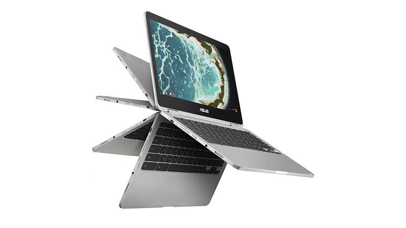 Folding views of the Chromebook Flip