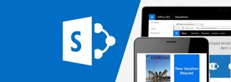 Microsoft SharePoint Logo and devices