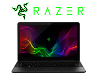 "The Razer Blade 13"" Laptop with Razer Logo Front view"