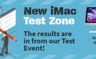 iMac and iMac Pro i9 with test results text
