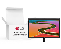"Lease the Apple LG 27"" Display box open from HardSoft"