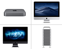 Apple Desktops available to lease from HardSoft featuring the iMac, Mac Pro, Mac Min & iMac Pro.