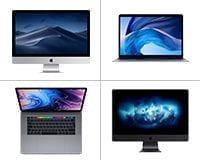Apple Macs available to lease from HardSoft featuring the iMac Pro, iMac, MacBook Pro & MacBook Air.
