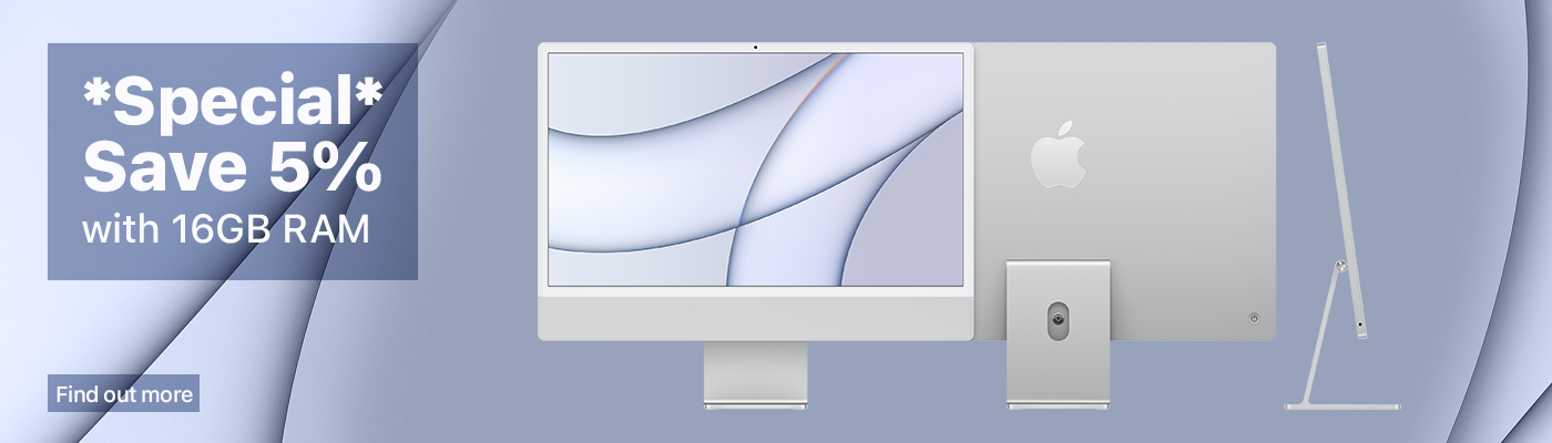 Apple imac 24inch 5% discount with 16GB RAM. In stock iMacs