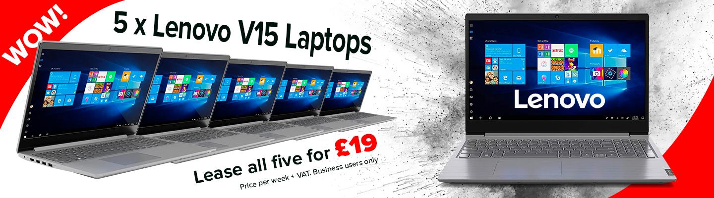Lenov v15 llaptops cheap £19 per week
