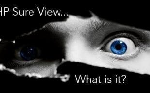 HP Sure View Blog - Eyes peeking through a gap in a black wall