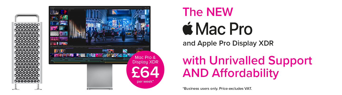 Mac Pro with Apple XDR display from just £64 per week