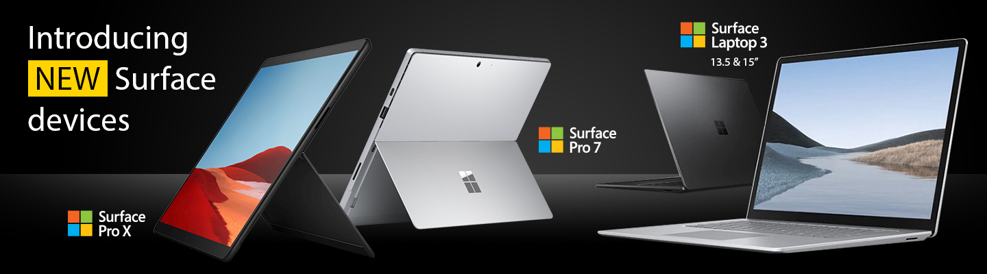 Microsoft Surface Pro X, 6 & 7 available to lease from HardSoft
