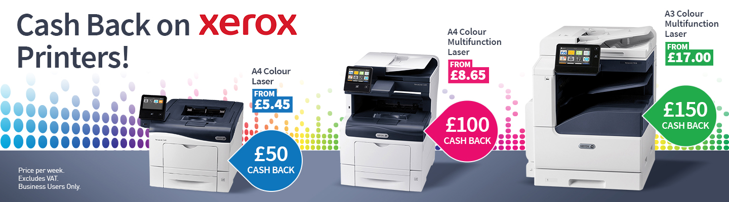 Xerox Printers with Cashback when leased with HardSoft